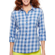 jcp™ Long-Sleeve Button-Front Shirt