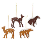 MarthaHoliday™ Into the Woods Set of 4 Clay Animal Christmas Ornaments