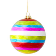 MarthaHoliday™ Merry and Bright Shiny Glass Ball Christmas Ornament