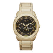 Relic® Harris Mens Gold-Tone Multifunction Watch