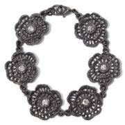 Liz Claiborne Hematite Crystal Flower Bracelet