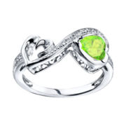Love Grows™ Peridot & White Topaz Heart Ring