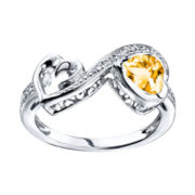 Love Grows™ Citrine & White Topaz Heart Ring