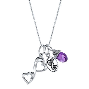 jcpenney.com | Love Grows™ Genuine Amethyst Heart Charm Pendant Necklace