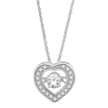jcpenney.com | Love in Motion™  ¼ CT. T.W. Diamond Heart Pendant Necklace