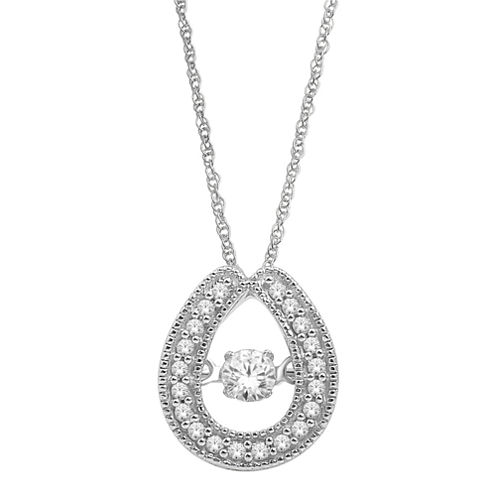 Love in Motion™ 1/5 CT. T.W. Diamond Teardrop Pendant Necklace