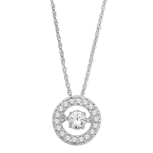 Love in Motion™  ¼ CT. T.W. Round Diamond Pendant Necklace