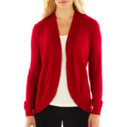Liz Claiborne® Long-Sleeve Shawl-Collar Cardigan Sweater