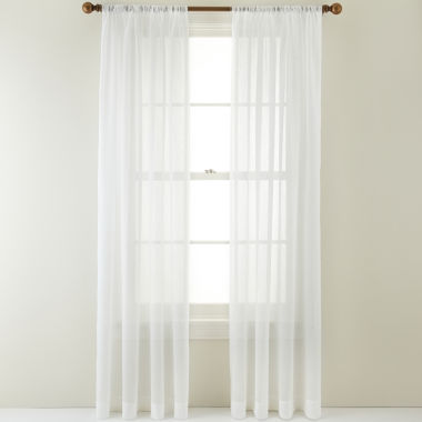 jcpenney.com | Royal Velvet® Crushed Voile Rod-Pocket Sheer Curtain Panel
