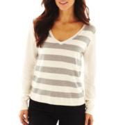 Liz Claiborne Long-Sleeve V-Neck Sweater