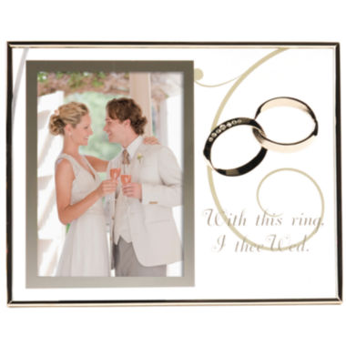 "jcpenney.com | Burnes of Boston® With This Ring Floating 4x6"" Picture Frame"