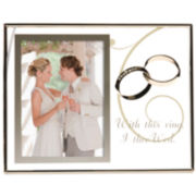 "Burnes of Boston® With This Ring Floating 4x6"" Picture Frame"