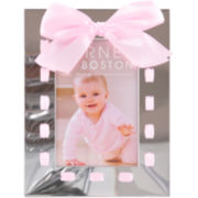Burnes of Boston® Pink Bow Tabletop Picture Frame