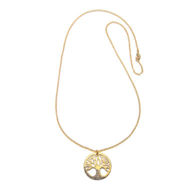 jcpenney.com | Mixit™ Crystal-Accent Gold-Tone Tree Pendant Necklace