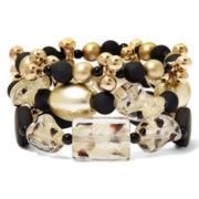 Aris by Treska 3-Row Stretch Bracelet