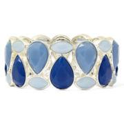 Liz Claiborne® Silver-Tone Blue Stretch Bracelet