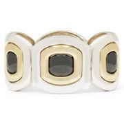 Liz Claiborne® Tri-Tone Statement Stretch Bracelet
