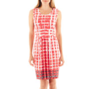 Liz Claiborne® Sleeveless Pleated Dress