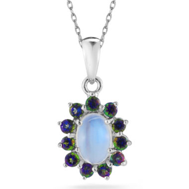 jcpenney.com | Opal & Mystic Fire Topaz Sterling Silver Pendant Necklace