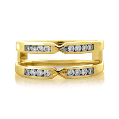 jcpenney.com | 1/4 CT. T.W. Diamond 14K Yellow Gold Pinched Ring Wrap