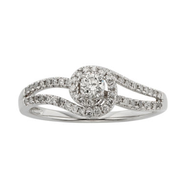 jcpenney.com | 3/8 CT. T.W. Diamond 10K White Gold Swirl Promise Ring