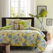Madison Park Fiji Tropical 6-pc. Quilted Coverlet Set