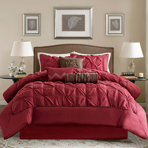 Madison Park Carmel Ruched 7-pc. Comforter Set