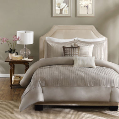jcpenney.com | Madison Park Channing Pleated 6-pc. Duvet Cover Set
