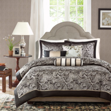 jcpenney.com | Madison Park Wellington Paisley 6-pc. Duvet Cover Set