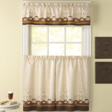 jcpenney.com | Café Au Lait 3-pc. Rod-Pocket Kitchen Curtain Set