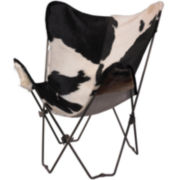 Derek Cowhide Butterfly Chair