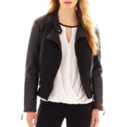 nicole by Nicole Miller® Faux-Leather Jacket