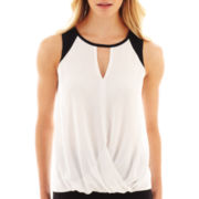 nicole by Nicole Miller® Sleeveless Wrap Top