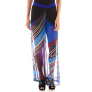 Bisou Bisou® Striped Flare-Leg Beach Pants
