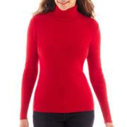 Liz Claiborne Long-Sleeve Ribbed Turtleneck Sweater