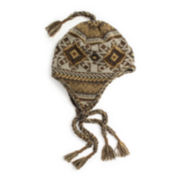 MUK LUKS® Geometric Tassel Helmet Hat