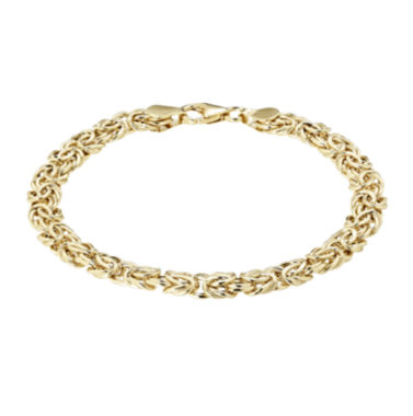 jcpenney.com | 14K Yellow Gold 6.4mm Byzantine Bracelet