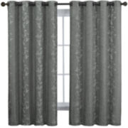 Victoria Classics Edora Embroidered Grommet-Top Curtain Panel