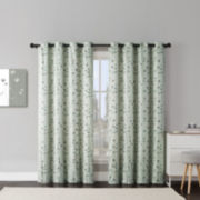 Victoria Classics Jasmine Embroidered Grommet-Top Curtain Panel