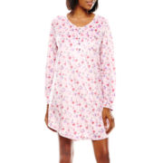 Earth Angels® Long-Sleeve Microfleece Nightgown - Petite