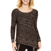Worthington® Long-Sleeve Asymmetrical Sweater - Tall