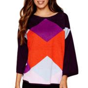 Worthington® 3/4-Sleeve Button-Back Sweater - Tall