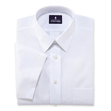 Stafford travel short sleeve performance super shirt for Stafford white short sleeve dress shirts