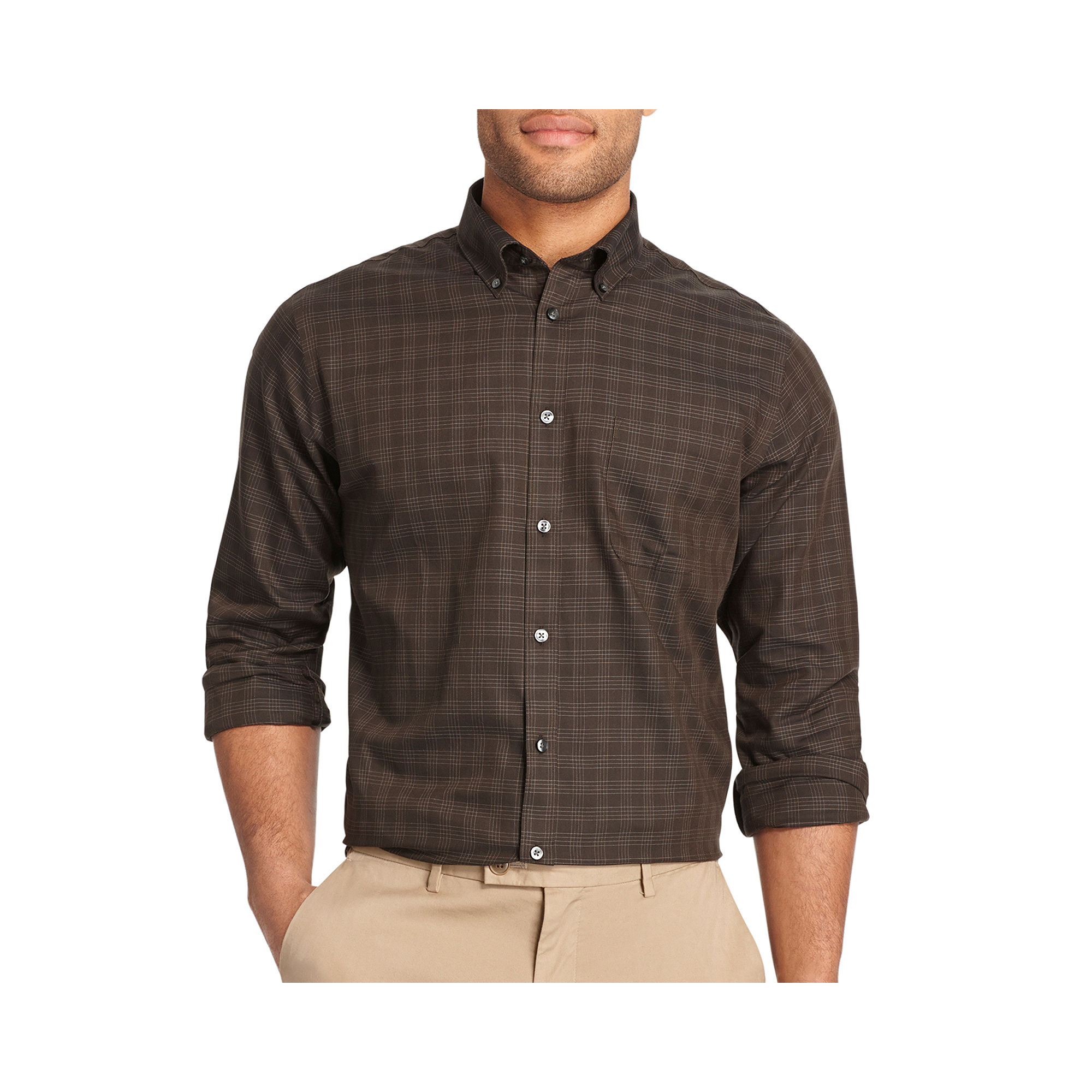 Upc 013282716910 Van Heusen No Iron Windowpane Plaid