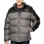 U.S. Polo Assn.® Fleece-Lined Colorblock Bubble Jacket
