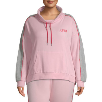 Flirtitude Womens Cowl Neck Long Sleeve Sweatshirt Juniors