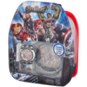 Marvel The Avengers Watch, Clock & Mini Backpack Set