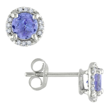 jcpenney.com | Tanzanite & Diamond-Accent Earrings 10K White Gold