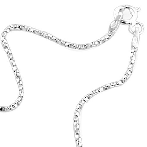 "Made in Italy 24"" Twisted Venetian Box Chain Sterling Silver"