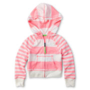 Arizona Striped French Terry Hoodie - Girls 12m-6y